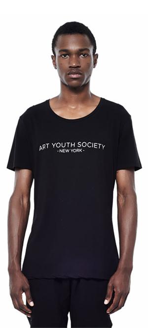Art_Youth_Society_Summer_tee_blk_aysny_front