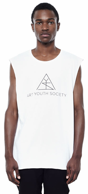Art_Youth_Society_cut_off_muscle_tee_logo_wht_front
