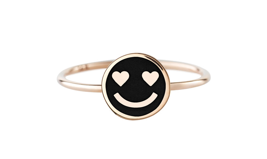 circle-golden-eye-smiley-black-ring-art-youth-society-rose-gold