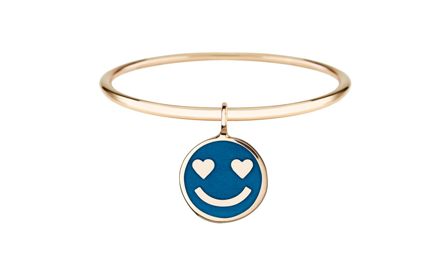 circle-golden-eye-smiley-on-yes-medium-blue-ring-art-youth-society-rose-gold
