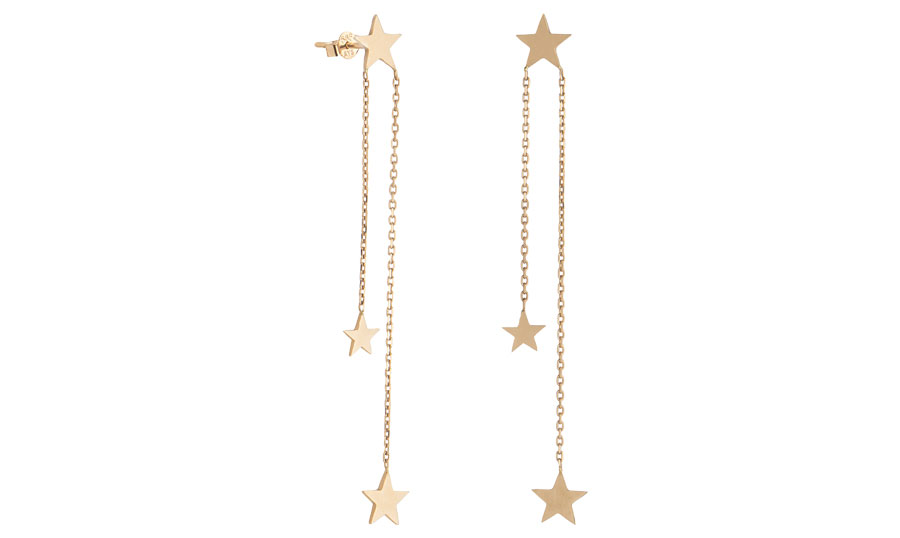 three-star-on-chain-earstud-art-youth-society-rose-gold-1