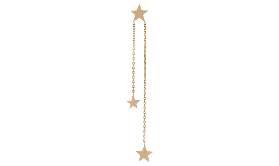 three-star-on-chain-earstud-art-youth-society-rose-gold